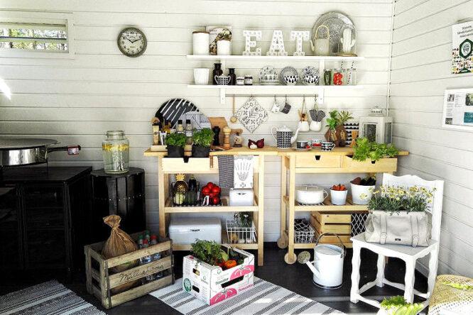Outdoorküche direkt im Garten oder auch in einer überdachten Veranda