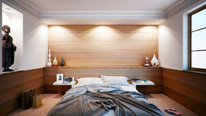Bett und Schlafzimmer - schon schön, wenn alles passt und eine angenehme Stimmung hat.